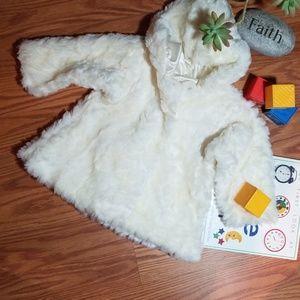 Winter white jacket 9/12 mo